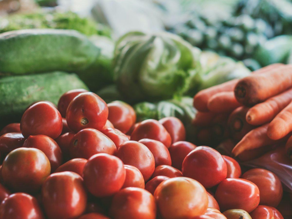 tomaten, gurken, karotten